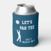 Bachelor Party Let's Par Tee Golfing Trip Can Cooler