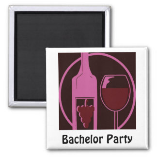 Bachelor Party 2 Inch Square Magnet