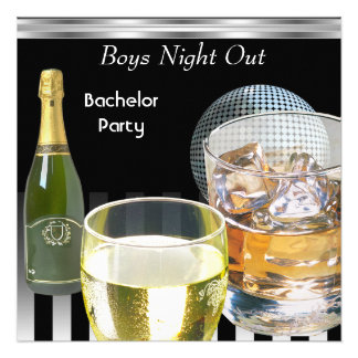 Bachelor Party Mens Boys Night Out Drinks 2 Invites