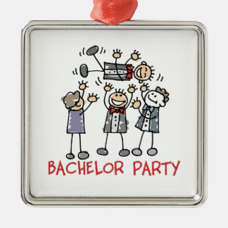 Bachelor Party Metal Ornament