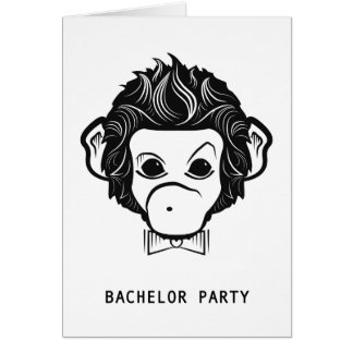 bachelor party mister monkey card