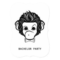 bachelor party mister monkey card