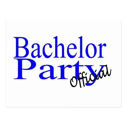 Bachelor Party Official Blue Post Card
