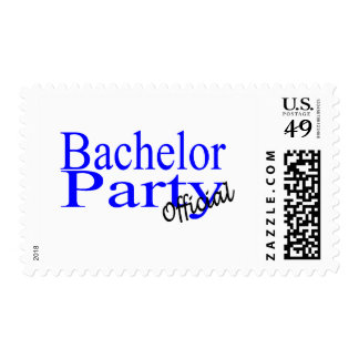 Bachelor Party Official Blue Postage