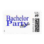 Bachelor Party Official Blue Postage Stamps