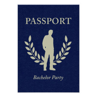 bachelor party passport personalized announcement