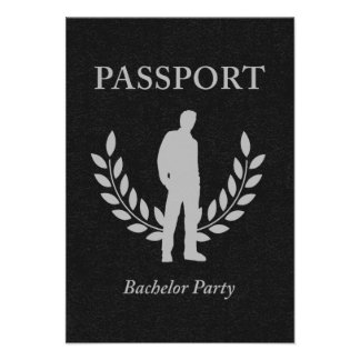 bachelor party passport custom invitations