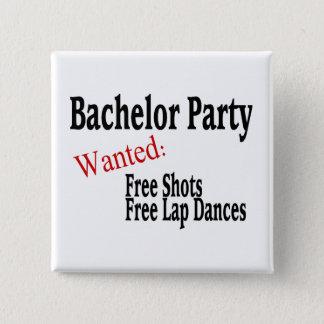 Bachelor Party Pinback Button
