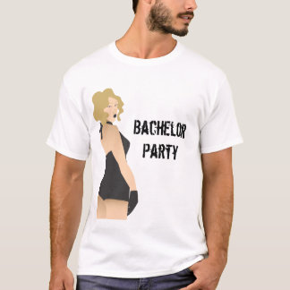 Bachelor party pinup girl shirt