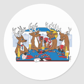 Bachelor Party Poker in Vegas Classic Round Sticker