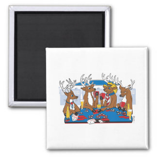Bachelor Party Poker in Vegas 2 Inch Square Magnet