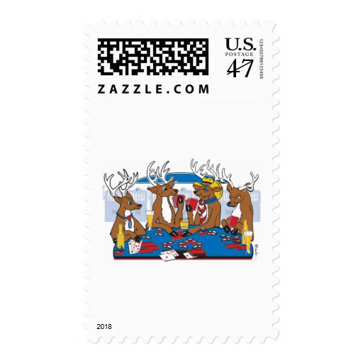Bachelor Party Poker Player Stamp