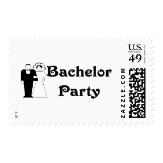 Bachelor Party Postage Stamp