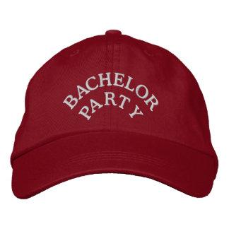 Bachelor party red white baseball cap