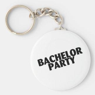 Bachelor Party Slanted Black Keychain
