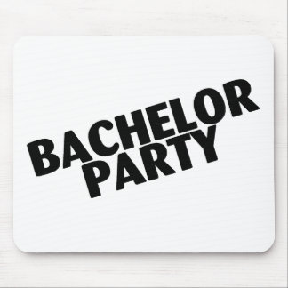 Bachelor Party Slanted Black Mouse Pad
