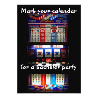 Bachelor Party Slot Machine Announcements