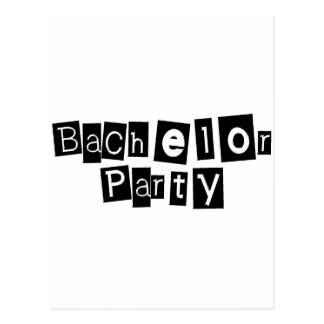 Bachelor Party (Sq Blk) Post Cards