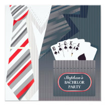 Bachelor Party Suit Flat Invitation