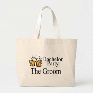Bachelor Party The Groom Canvas Bags