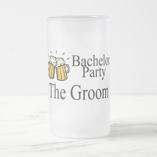 Bachelor Party The Groom Frosted Glass Beer Mug