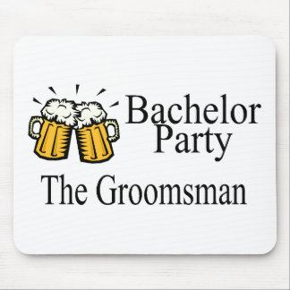 Bachelor Party The Groomsman Beer Jugs Mouse Pad