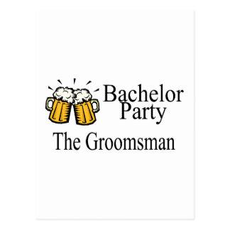 Bachelor Party The Groomsman Postcard