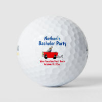 Bachelor Party Trip Wedding Favor Golf Balls