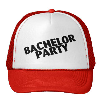 Bachelor Party Wedding Black Hats