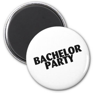Bachelor Party Wedding Black 2 Inch Round Magnet