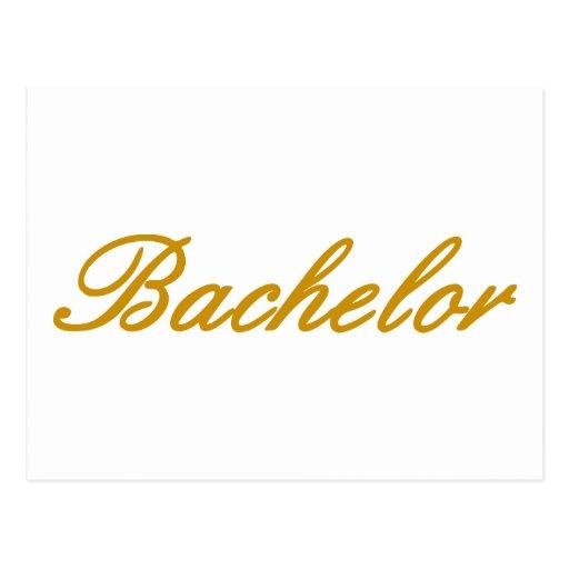 Bachelor Post Card