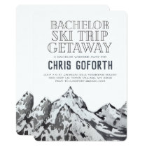 Bachelor Ski Trip Weekend Getaway Card