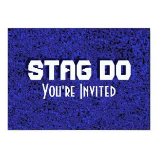 Bachelor Stag Party blue textured invite