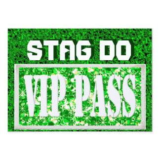 Bachelor Stag Party green VIP invite