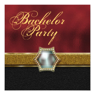 Bachelor stag party 5.25x5.25 square paper invitation card