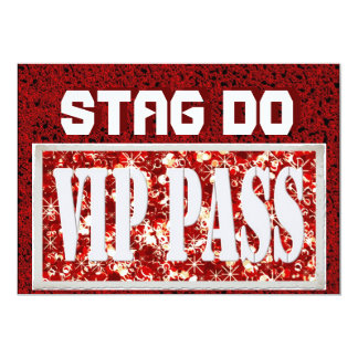 Bachelor Stag Party red VIP invite