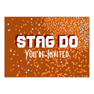 Bachelor Stag Party rust red invite