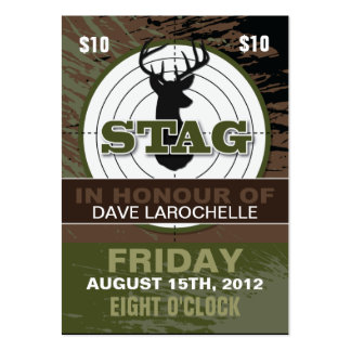 Bachelor / Stag Tickets Large Business Card
