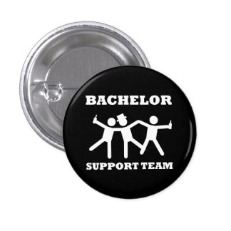 Bachelor Support Team Pinback Button