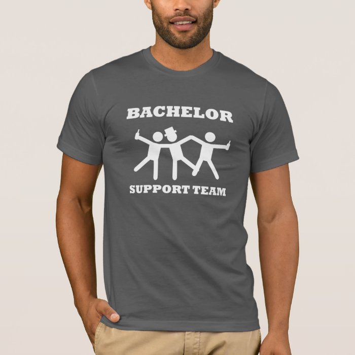 Bachelor support team t shirt zazzle for I support two teams t shirt