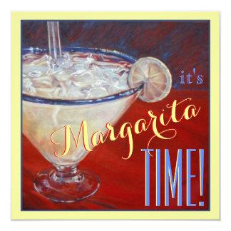 """Bachelorette amarillo azul rojo de la bebida de invitación 5.25"""" x 5.25"""""""