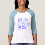 Bachelorette azul azul azul camiseta