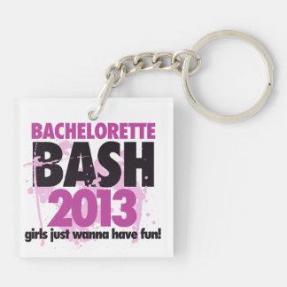 Bachelorette Bash 2013 Double-Sided Square Acrylic Keychain