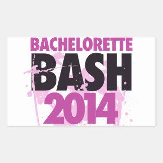 Bachelorette Bash 2014 Rectangular Sticker
