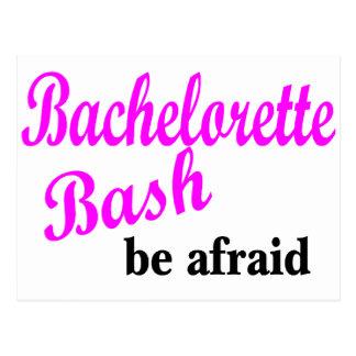 Bachelorette Bash (be Afraid) Postcard