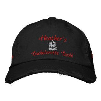 Bachelorette Bash Black Embroidered Baseball Cap