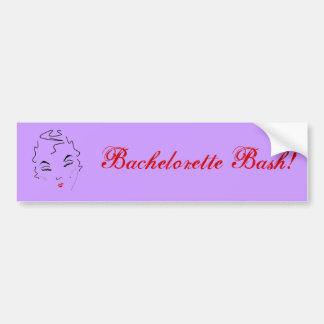 Bachelorette Bash Bumper Sticker