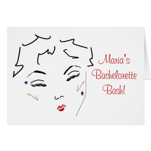 Bachelorette Bash Greeting Card