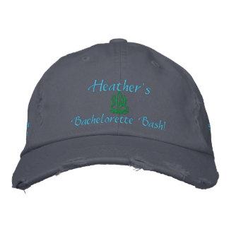 Bachelorette Bash I Blue Embroidered Hat
