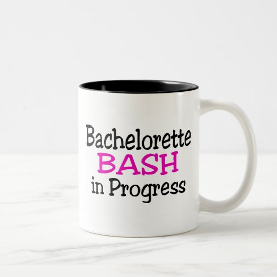 Bachelorette Bash In Progress Two-Tone Coffee Mug